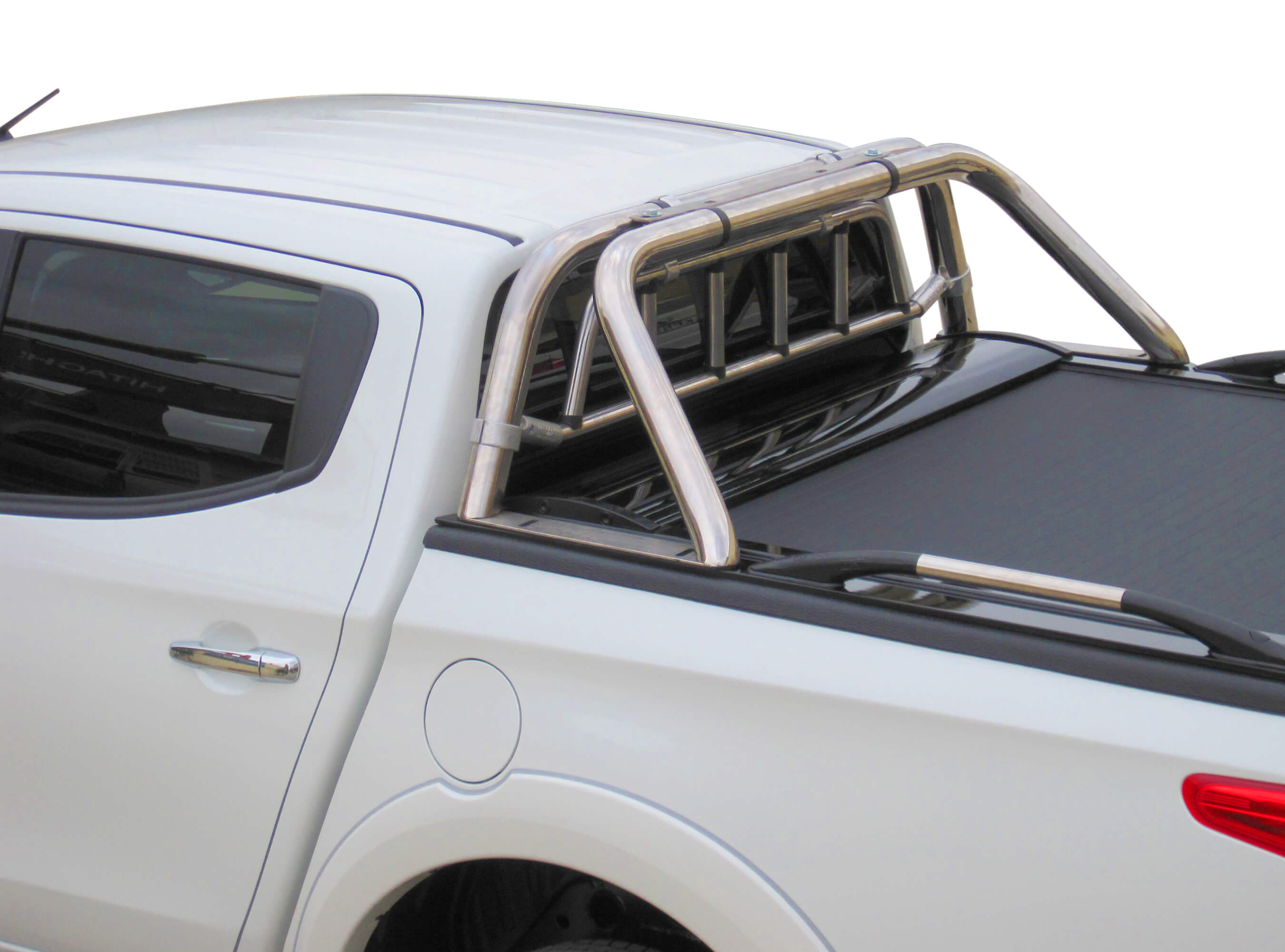 Stainless steel two legs roll bar with protective grille guard